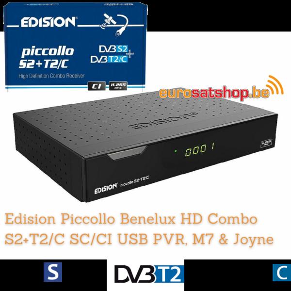 Edision Piccollo BNL Combo S2+T2/C SC/CI USB PVR, M7