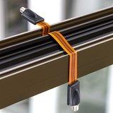 Venstercoax bruin 30cm super flat_