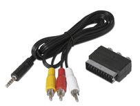 Adapterset jack RCA / SCART voor TechniSat-ontvanger