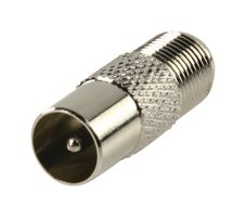 Coax-Adapter F Coax Male (IEC) - F-Connector Female Zilver