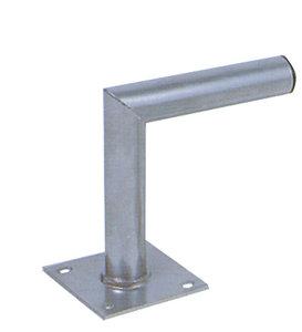 L-vormige, stalen muurbeugel 600 mm