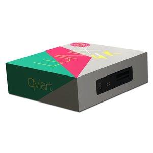 QVIART LUNIX 4K UHD DVB-S2X/T2/C Combo SC/CI+ USB PVR