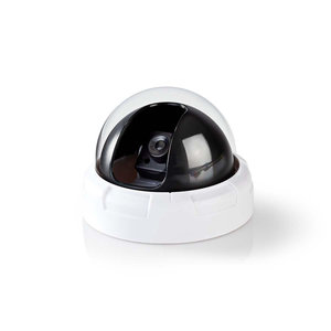 Dummy beveiligingscamera | Dome | IP44 | Wit