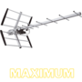 Maximum 20641 DVB-T buitenantenne, 14 elements LTE 4G Ready