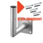 L-vormige aluminium muurbeugel 200 mm